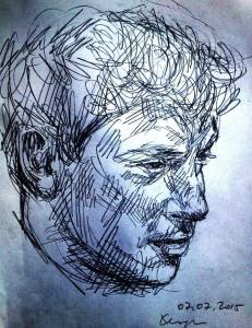 Boris Nemtsov portrait made by Lena Hades the 7th July
