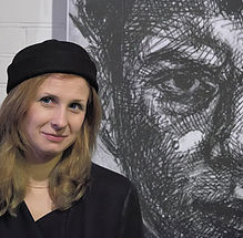 Алехина на выставке Немцов мост