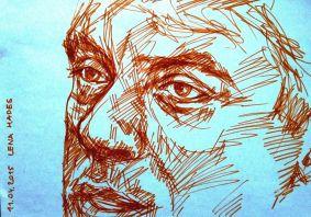 Борис Немцов, портрет Хейдиз фломастером.